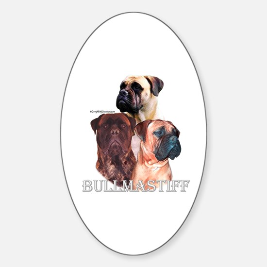 Bullmastiff 1 Oval Decal