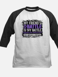 My Battle Too 2 H Lymphoma Kids Baseball Jersey