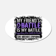 My Battle Too 2 H Lymphoma Wall Decal