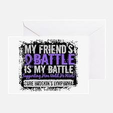 My Battle Too 2 H Lymphoma Greeting Card