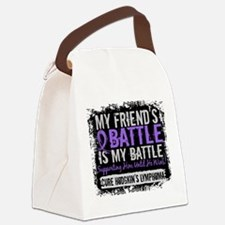 My Battle Too 2 H Lymphoma Canvas Lunch Bag