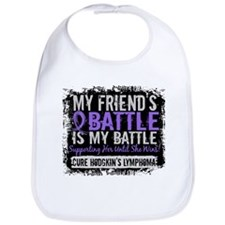 My Battle Too 2 H Lymphoma Bib