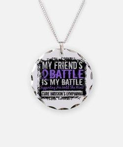 My Battle Too 2 H Lymphoma Necklace