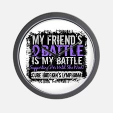 My Battle Too 2 H Lymphoma Wall Clock