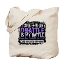My Battle Too 2 H Lymphoma Tote Bag