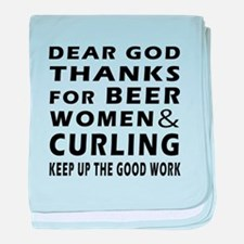 Beer Women And Curling baby blanket