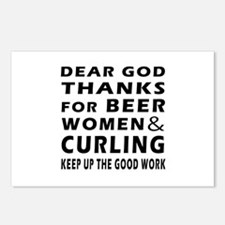 Beer Women And Curling Postcards (Package of 8)