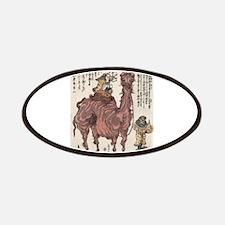 Pair Of Camels 1 - Kuniyasu Utagawa - 1824 -woodcu