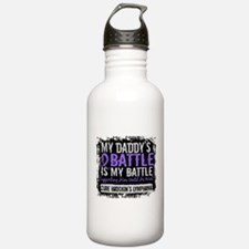 My Battle Too 2 H Lymphoma Water Bottle