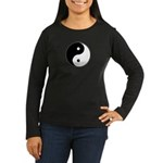 Yin Yang Women's Long Sleeve Dark T-Shirt