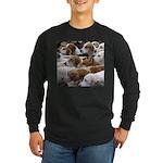 The Foxed Long Sleeve Dark T-Shirt
