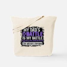 My Battle Too 2 H Lymphoma Tote Bag