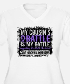 My Battle Too 2 H Lymphoma T-Shirt