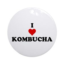 I Love Kombucha Ornament (Round)