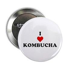 """I Love Kombucha 2.25"""" Button"""