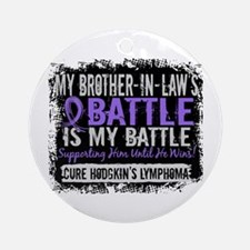 My Battle Too 2 H Lymphoma Ornament (Round)