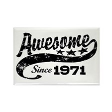 Awesome Since 1971 Rectangle Magnet