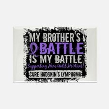 My Battle Too 2 H Lymphoma Rectangle Magnet