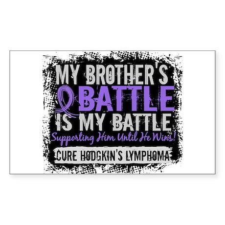 My Battle Too 2 H Lymphoma Sticker (Rectangle)