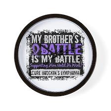 My Battle Too 2 H Lymphoma Wall Clock