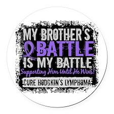 My Battle Too 2 H Lymphoma Round Car Magnet
