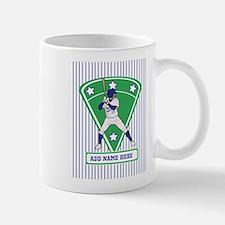 Personalized Blue Baseball star player Small Small Mug