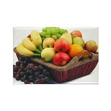 Basket of fruit Rectangle Magnet