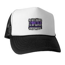 My Battle Too 2 H Lymphoma Trucker Hat
