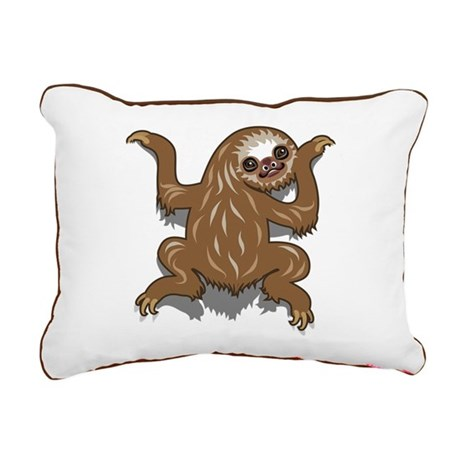 Baby Sloth Rectangular Canvas Pillow