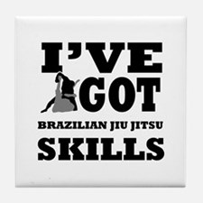 Brazilian Jiu Jitsu martial arts designs Tile Coas