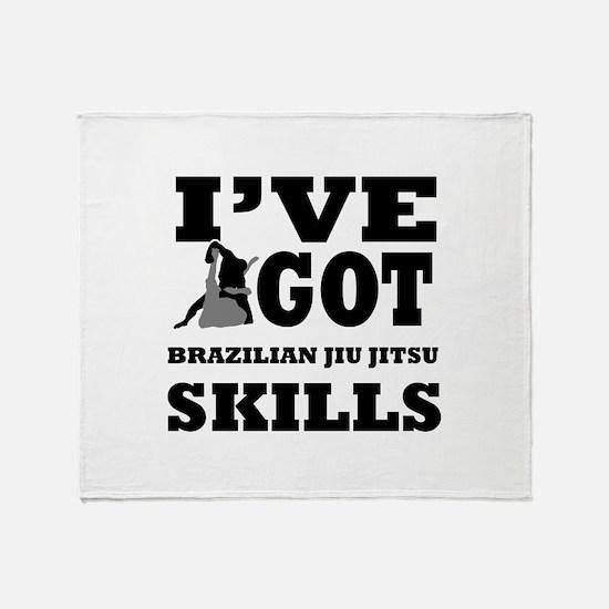Brazilian Jiu Jitsu martial arts designs Throw Bla