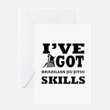 Brazilian Jiu Jitsu martial arts designs Greeting