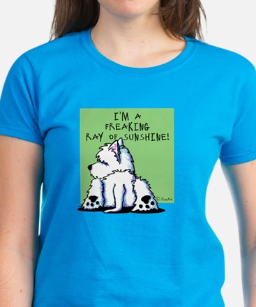Cool Belly Westie Women's Dark T-Shirt