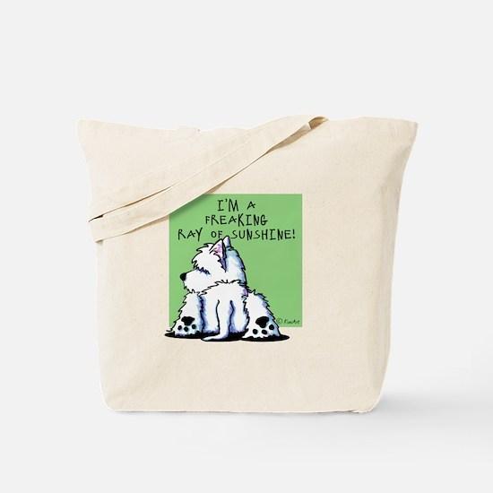 Cool Belly Westie Tote Bag