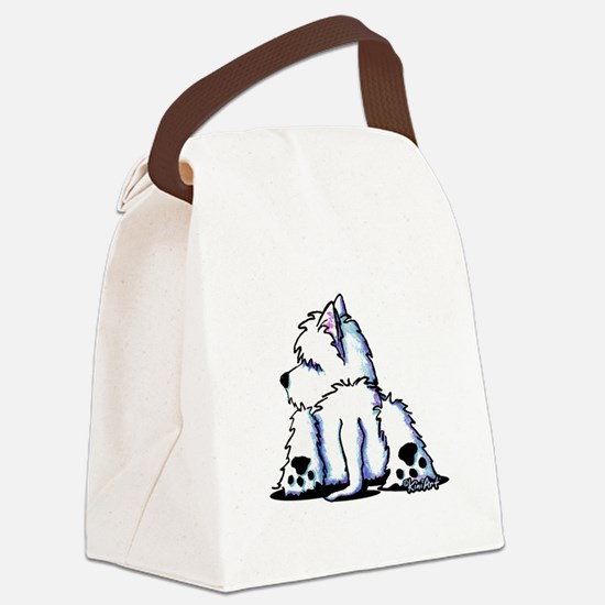 Cool Belly Westie Canvas Lunch Bag
