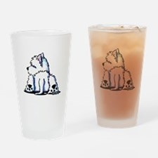Cool Belly Westie Drinking Glass