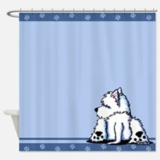 Cool Belly Westie Shower Curtain