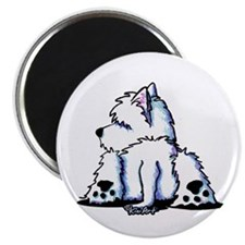 "Cool Belly Westie 2.25"" Magnet (10 pack)"