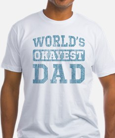 World's Okayest Dad [v. blue] Shirt