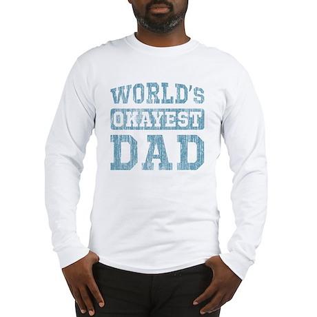 World's Okayest Dad [v. blue] Long Sleeve T-Shirt