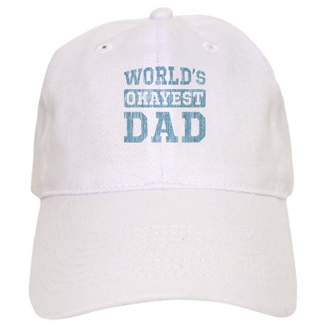 World's Okayest Dad [v. blue] Cap