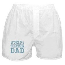 World's Okayest Dad [v. blue] Boxer Shorts
