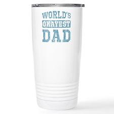 World's Okayest Dad [v. blue] Travel Mug