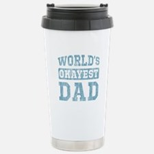 World's Okayest Dad [v. blue] Travel Mug
