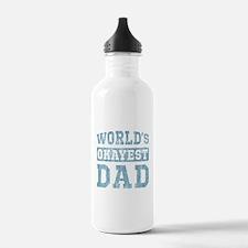 World's Okayest Dad [v. blue] Water Bottle