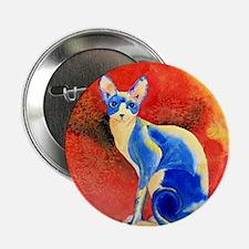 """Sphynx Cat 2.25"""" Button"""