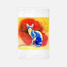 Sphynx Cat 3'x5' Area Rug