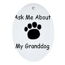 Grand Dog Oval Ornament