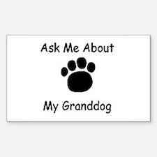 Grand Dog Rectangle Decal