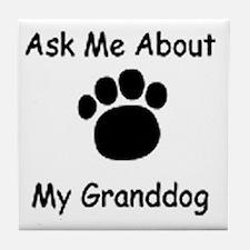 Grand Dog Tile Coaster